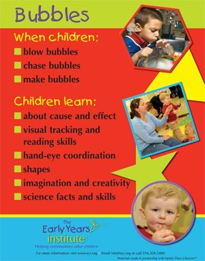 The Early Years Institute shares what children learn when playing with bubbles!