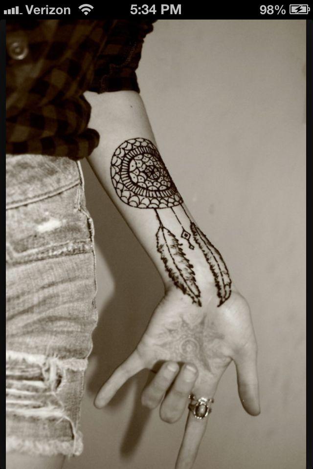 Henna Tattoo Amerian Inidan style