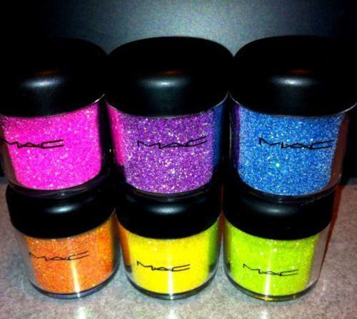 MAC GLITTER HEAVENMac Glitter, Eye Makeup, Bright Eye, Beautiful, Mac Eye, Neon Colors, Mac Pigment, Bright Colors, Mac Cosmetics