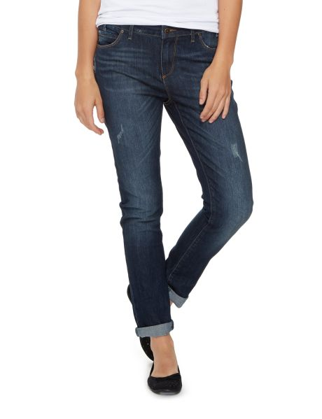 Blasting and abrasion details feature on these skinny jeans and they have five pockets. #NewandNow