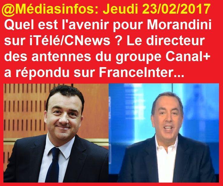 Quel avenir pour JeanMarcMorandini sur iTélé CNews ?   Le patron des programmes du groupe CanalPlus a répondu...➡ https: // www. instagram.com/p/BQ2lKhdjsv0/ ? prise par = mediasinfos  ...