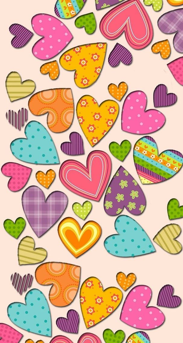 Multicolor Hearts Wallpaper