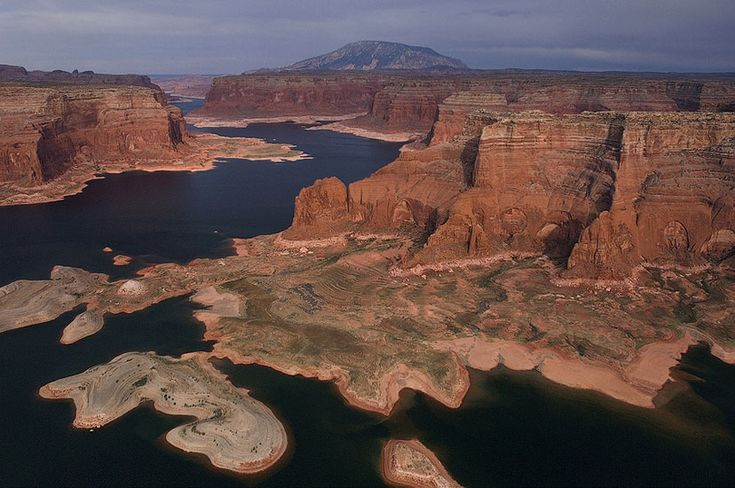Rainbow Plateau and Distant View of Navajo Mountain. Glen Canyon NRA, Lake Powell, Utah/Arizona, USA. Aerial. - Lake-Powell-From-Above-Gallery2-Utah-Arizona - Mike Reyfman Photography