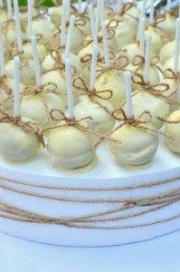 Cake pops - Red velvet cake with white choc and duke bows
