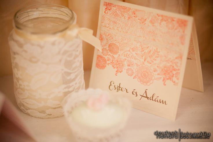 Vintage wedding invitation by Enchantée