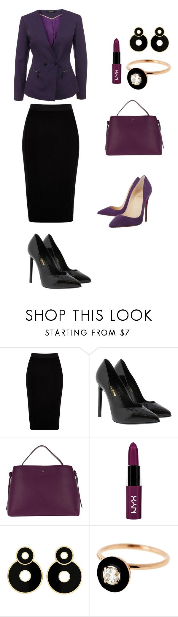 """""""Violet dream"""" by anna-cherepanina on Polyvore featuring мода, River Island, Yves Saint Laurent, Etienne Aigner, NYX и Selim Mouzannar"""