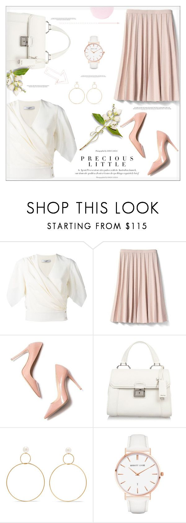"""""""Precious in Pink"""" by suzanne228 ❤ liked on Polyvore featuring Lanvin, Banana Republic, Agent Provocateur, M. Gemi, Miu Miu, Natasha Schweitzer, Abbott Lyon and Smith & Cult"""