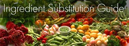 Ingredient Substitution Guide from Vegetarian Times