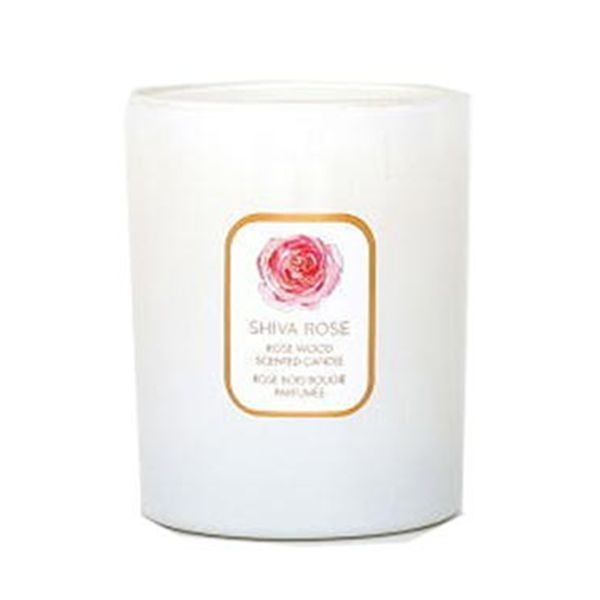 Shiva Rose Candle Made Of Natural Coconut Wax And A Lead