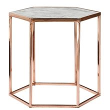 Rose Gold and Marble Nightstand https://uk.pinterest.com/pin/93942342205711643/