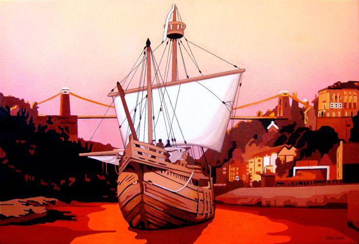 Bristol Matthew Fluorescent acrylic and spray paint on canvas