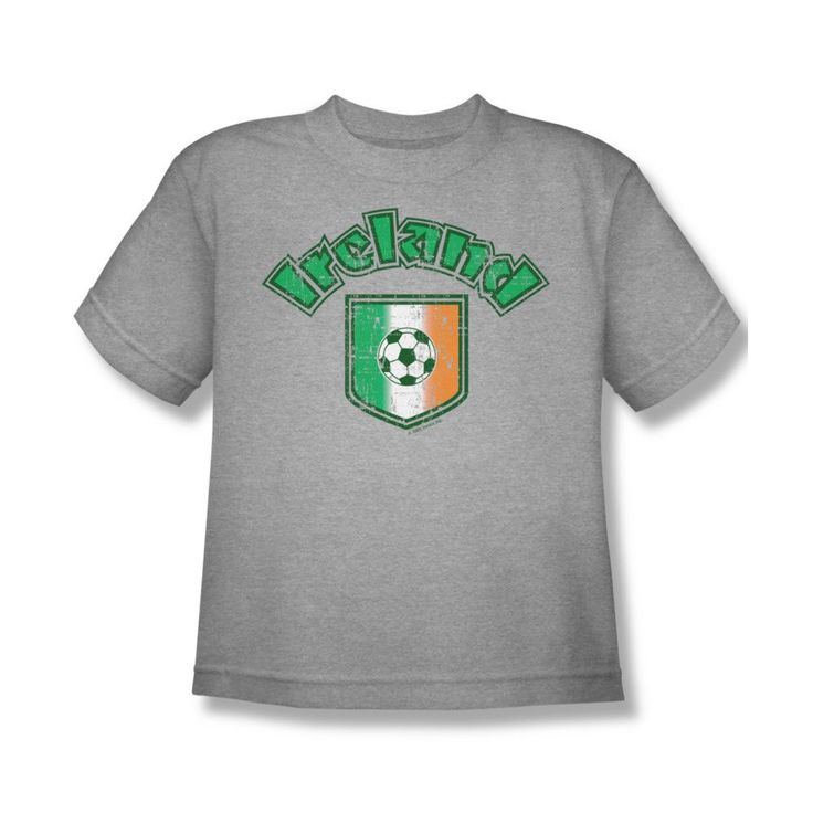 Ireland With Soccer Flag Youth T-Shirt