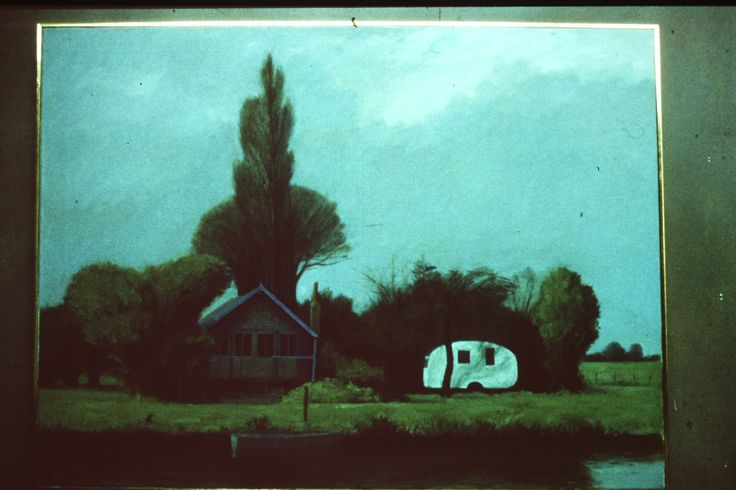 Holiday House 1978 by Ian Fraser oil on linen