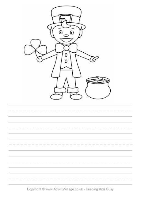 Leprechaun story paper | St. Patrick's Day Art Projects | Pinterest | Leprechaun story and ...