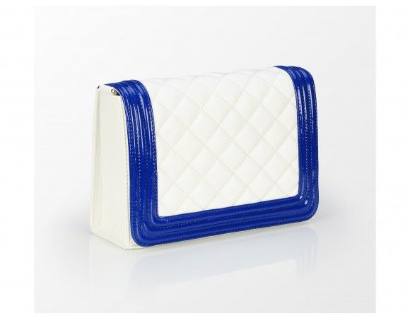 geanta alb albastra - genti dama