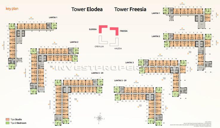 Floor Plan Apartemen The SpringLake View Bekasi