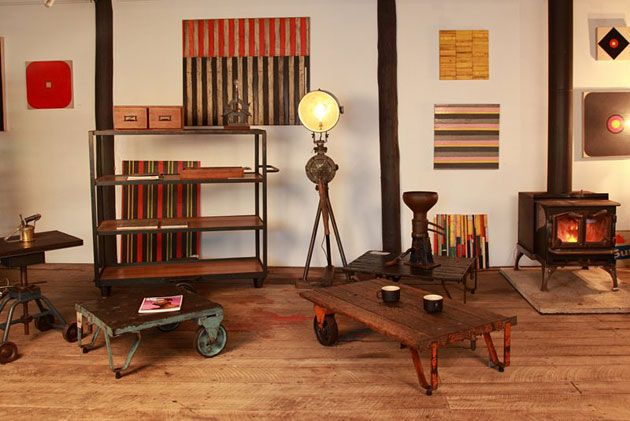 Vintage industrial and upcycled furniture at Century Salvage, Hunter Valley NSW