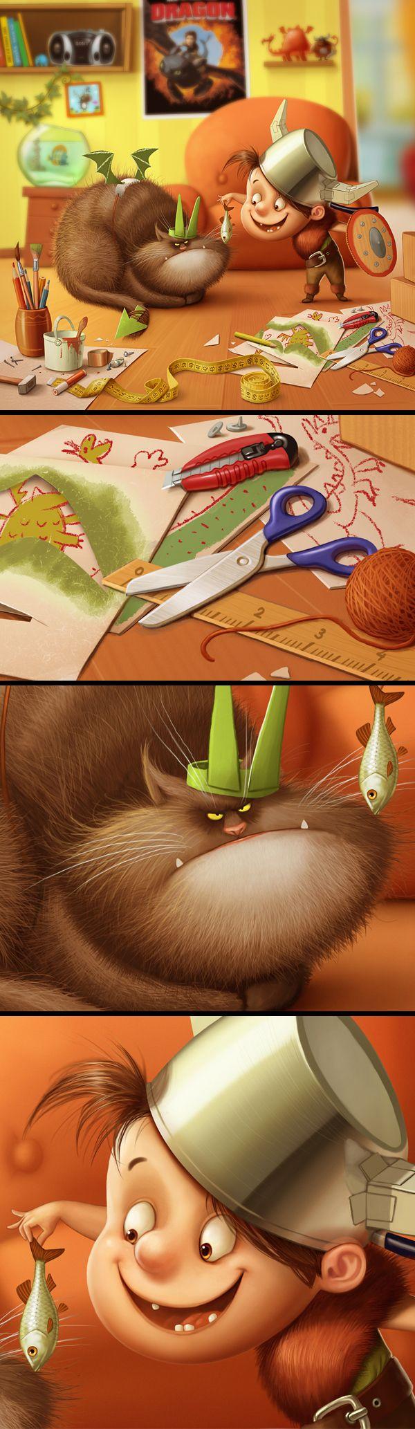 Illustration mix by Sergey Kardakov, via Behance ★ Find more at http://www.pinterest.com/competing