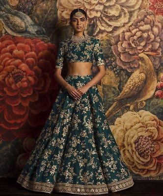Details about saree Designer Indian wedding wear Bollywood zari lehenga ghagra lengha choli