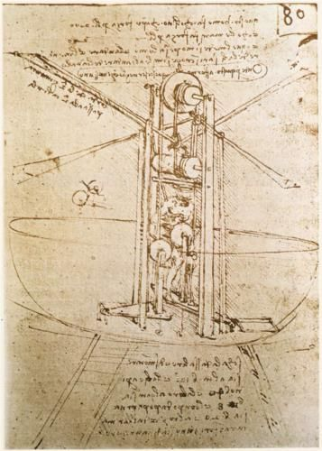 Leonardo da Vinci  c.1487  metalpoint, ink on paper    I love the da Vinci technical drawings!
