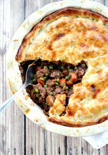 The filling in this Beef Pot Pie recipe is guaranteed to create the best, most deep-flavored pot pie you've ever tasted. The ultimate comfort food meal.