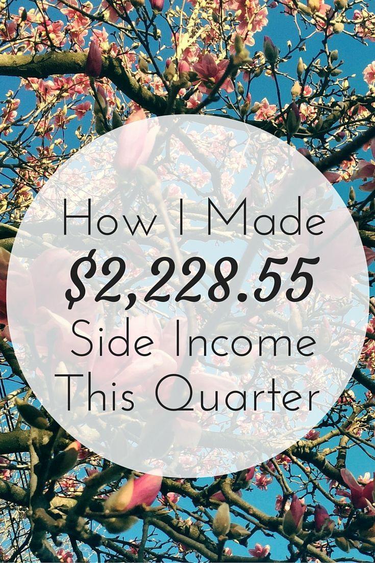 Working multiple jobs to earn and save more probably won't happen as you get older. It's a big reason why I'm side hustling toward financial freedom now. Here's how I earned an extra $2,228.55 this quarter. | Cashville Skyline