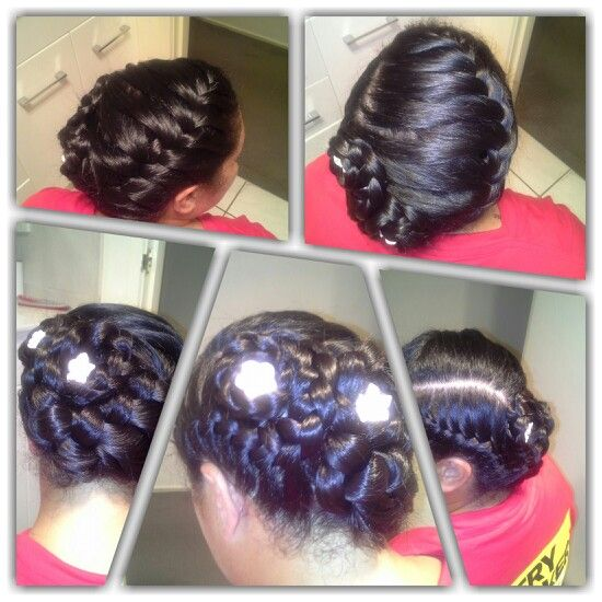 Maori thick hair is hard to work with but not for #Ace of Braids. #updo bride.