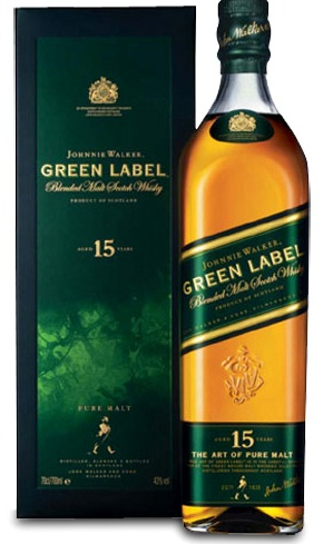 Johnnie Walker Green Label - A gift from the best man at our wedding.
