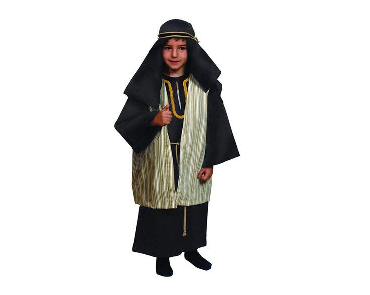 DisfracesMimo, disfraz de hebreo beig para niño varias tallas. De estética Beduína, te permitrá sentirte como un Jeque Árabe en Fiestas Temáticas y Carnaval, un Pastor en Navidad.Este disfraz es ideal para tus fiestas temáticas de disfraces de navidad y cabalgatas infantiles