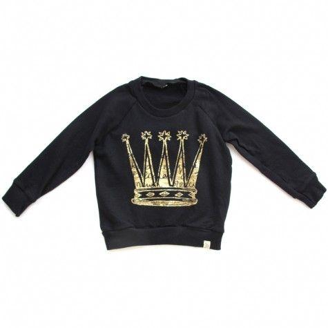 fleece raglan pullover (gold foil)