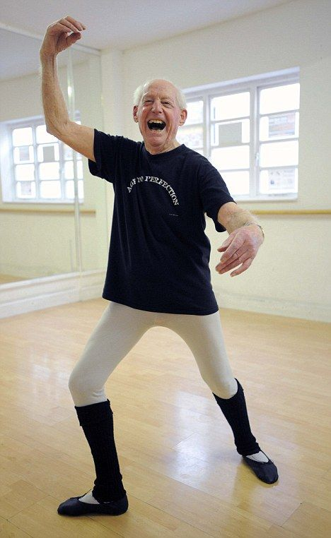 Old Age Pirouetter! A VERY sprightly 91 - the former Japanese PoW who is Britain's oldest ballet dancer.  (Note: He's 93 now and, as far as I know, still going! http://www.ageofhappiness.com/profile/john_lowe_eng/)