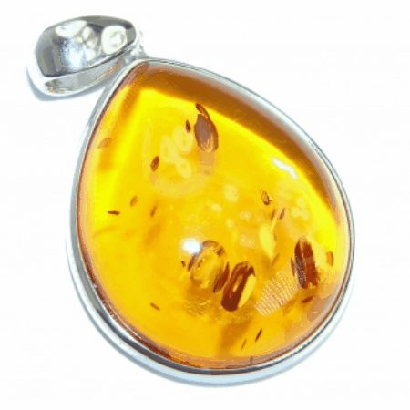 Amber Jewelry Natural Butterscotch Baltic Amber  Sterling Silver handmade Pendant