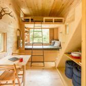 tiny house inside bed