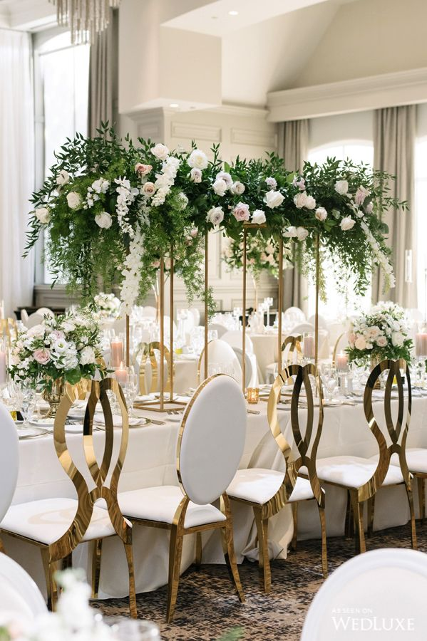 Pink White Gold Wedding Table Gold Wedding Theme Gold