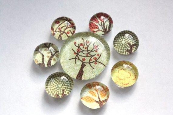 hug a tree. glass marble magnets, refrigerator magnets, bubble magnets, fridge magnets, party favor magnets, $8.00