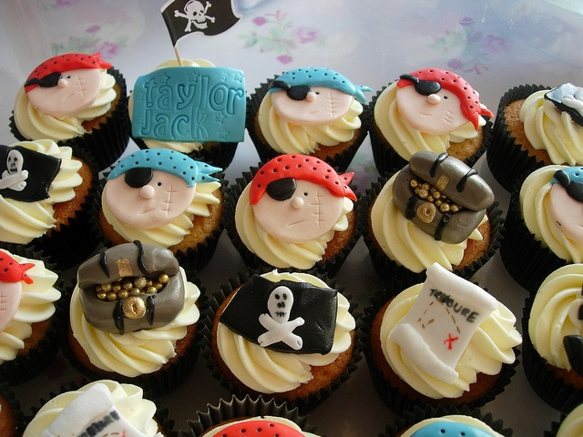Pirate Party Cupcakes   #pirate
