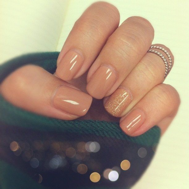 Fall colors - CND Shellac in Cocoa and Glitzy Tinsel Toast! | Yelp