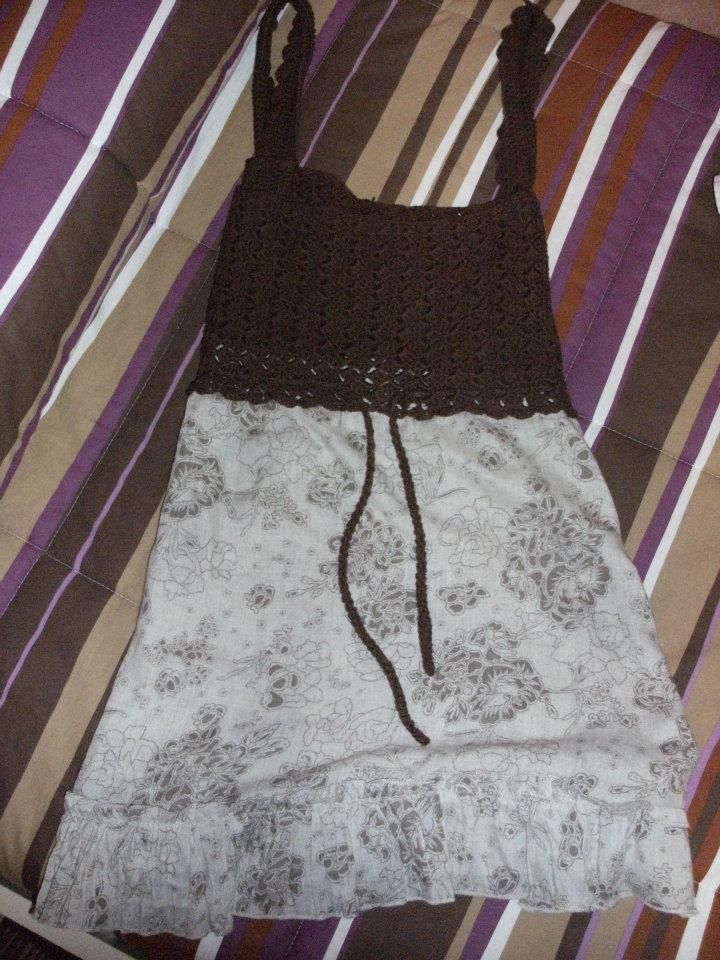maglietta con top in cotone