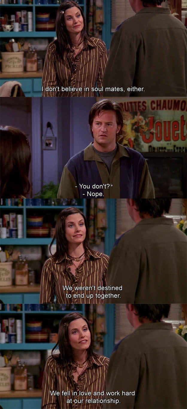 monica and chandler relationship