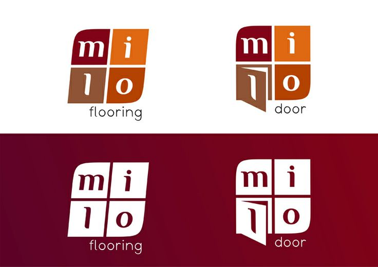 Milo Flooring, Milo Doors - projekty logo www.ludio.pl