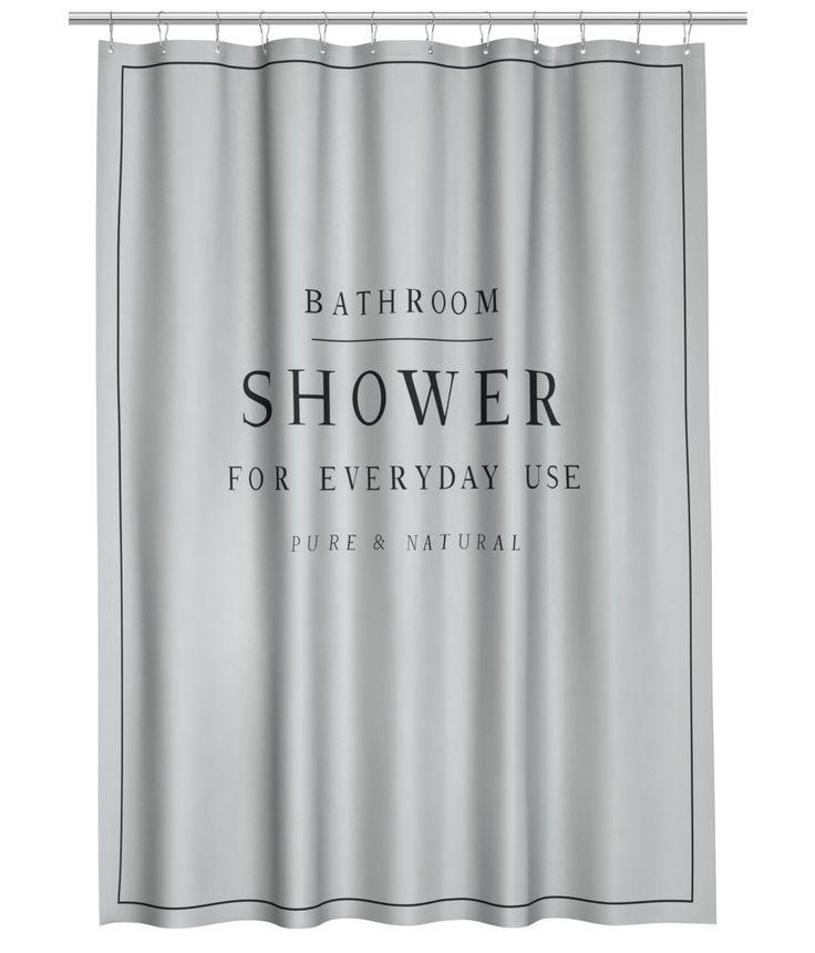 Kolla in det här! Ett duschdraperi i vattenavvisande polyester med texttryck. Öljetter i metall upptill. Duschdraperiringar säljs separat. - Besök hm.com för ännu fler favoriter.