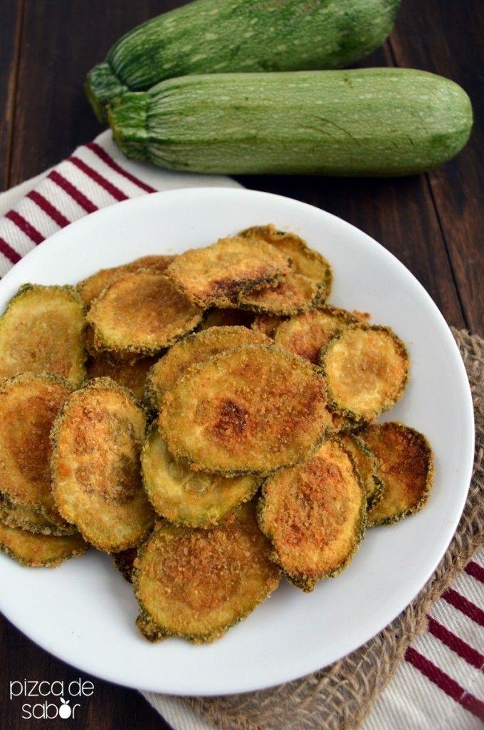 Chips de calabacita – calabacin con parmesano   Ganadores del concurso | http://www.pizcadesabor.com/2014/06/16/chips-de-calabacita-con-parmesano/