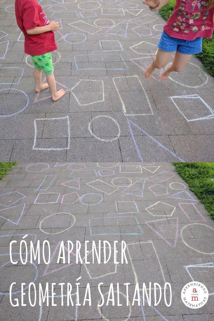 Actividad para aprender geometría saltando y al aire libre. ¡Disfrutarán al máximo!