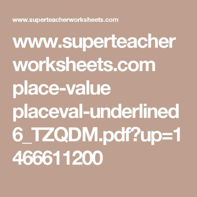 As 470 melhores imagens em gerao de valor no pinterest superteacherworksheets place value placeval underlined6tzqdmpdfup fandeluxe Images