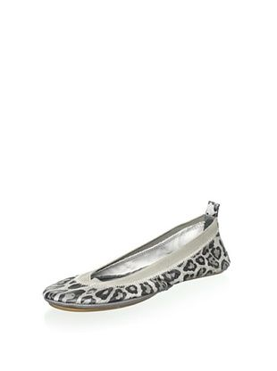 55% OFF Yosi Samra Women's Samara Tumbled Leopard Ballet Flat (Snow)