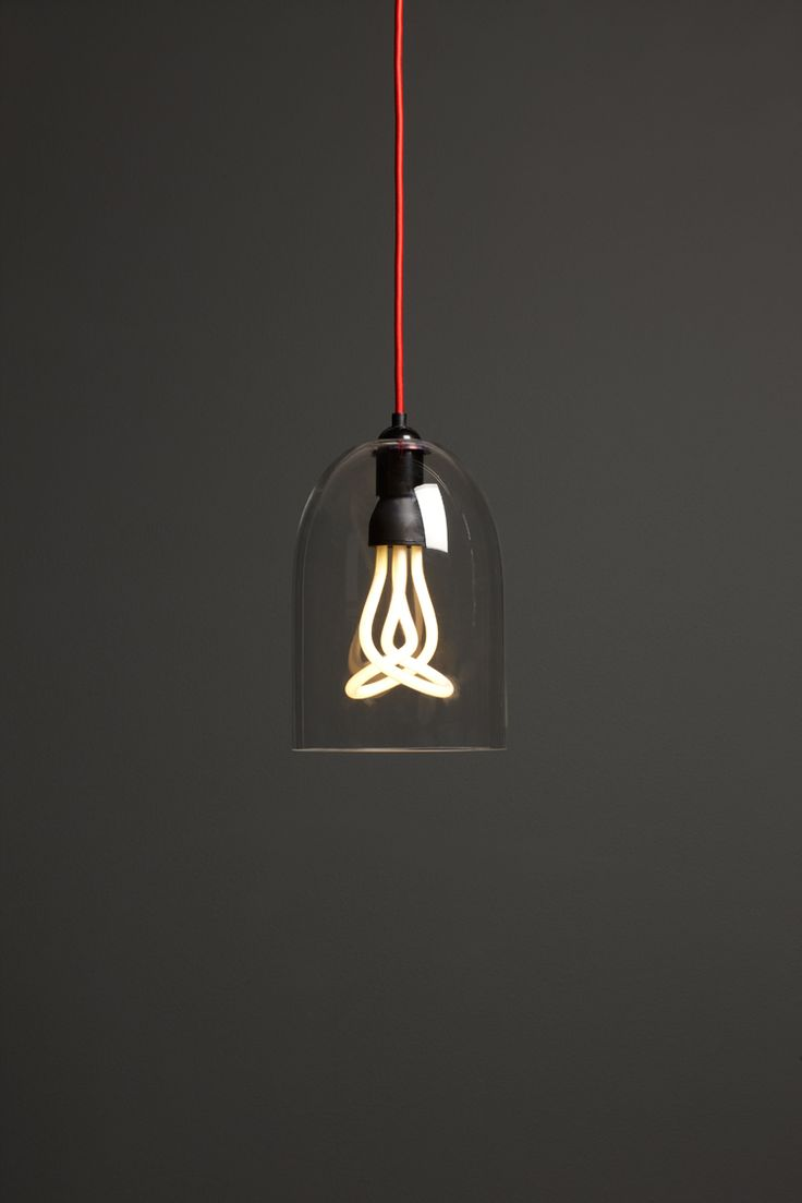 Madison Glass Pendant Shade, John Lewis with a fab plumen lightbulb.