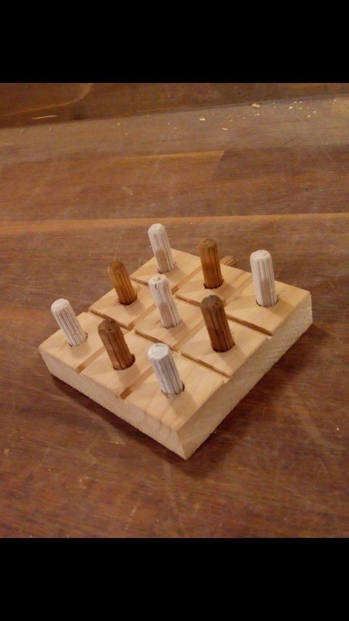 Tic tac toe wooden wood woodworker woodworking woodworker kid workshop shop for beginers beginer toys for kid easy circular