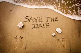 Save the date beach: Little Mermaids, Save The Date, Beaches Wedding Favors, Foot Prints, Wedding Ideas, Cute Ideas, Palms Trees, Date Ideas, Destinations Wedding