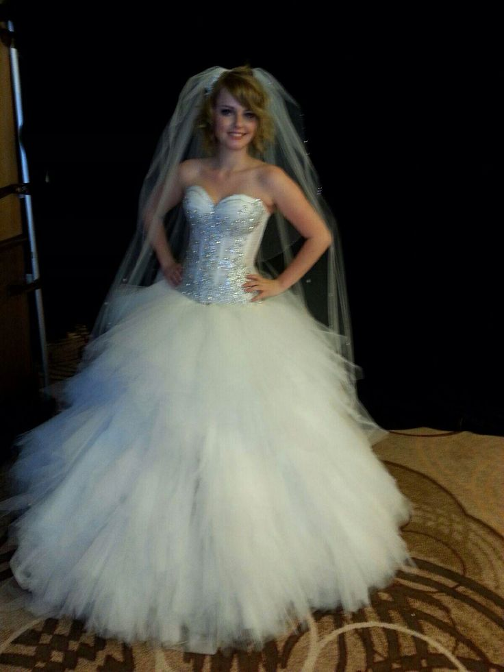 Huge Ball Gown Corset Tulle Bling Wedding Dress