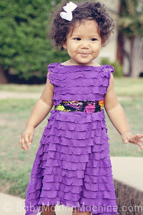 cute and easy ruffle dress